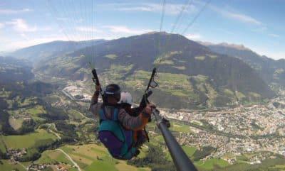 Tandemflug über Brixen