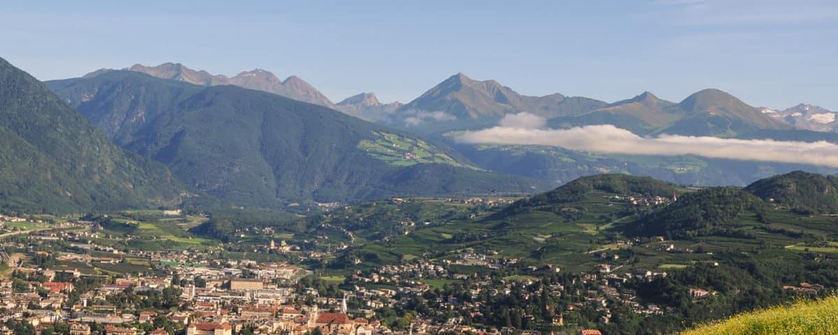 Die Stadt Brixen von Mellaun aus gesehen