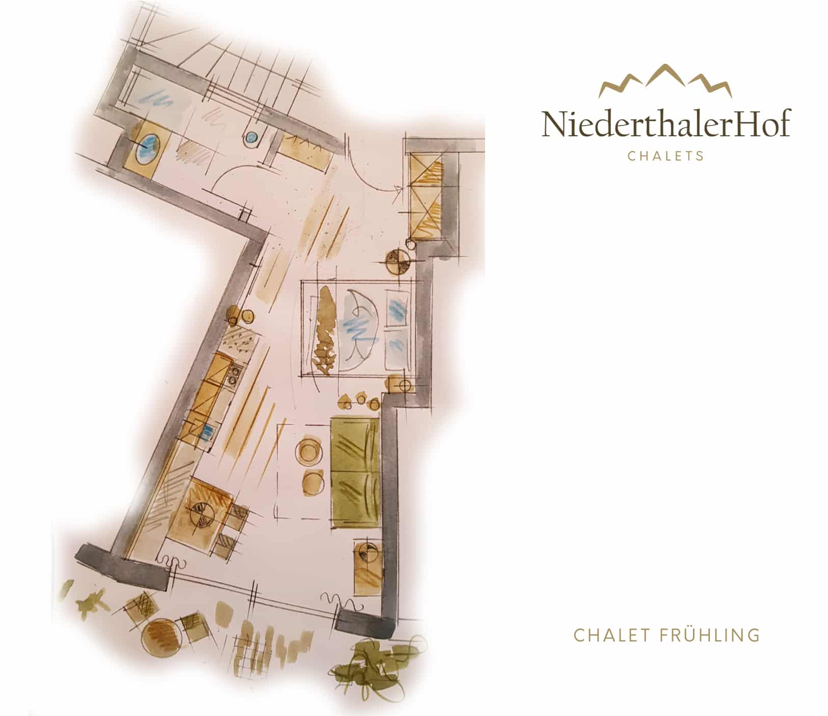 Chalet Frühling - Skizze