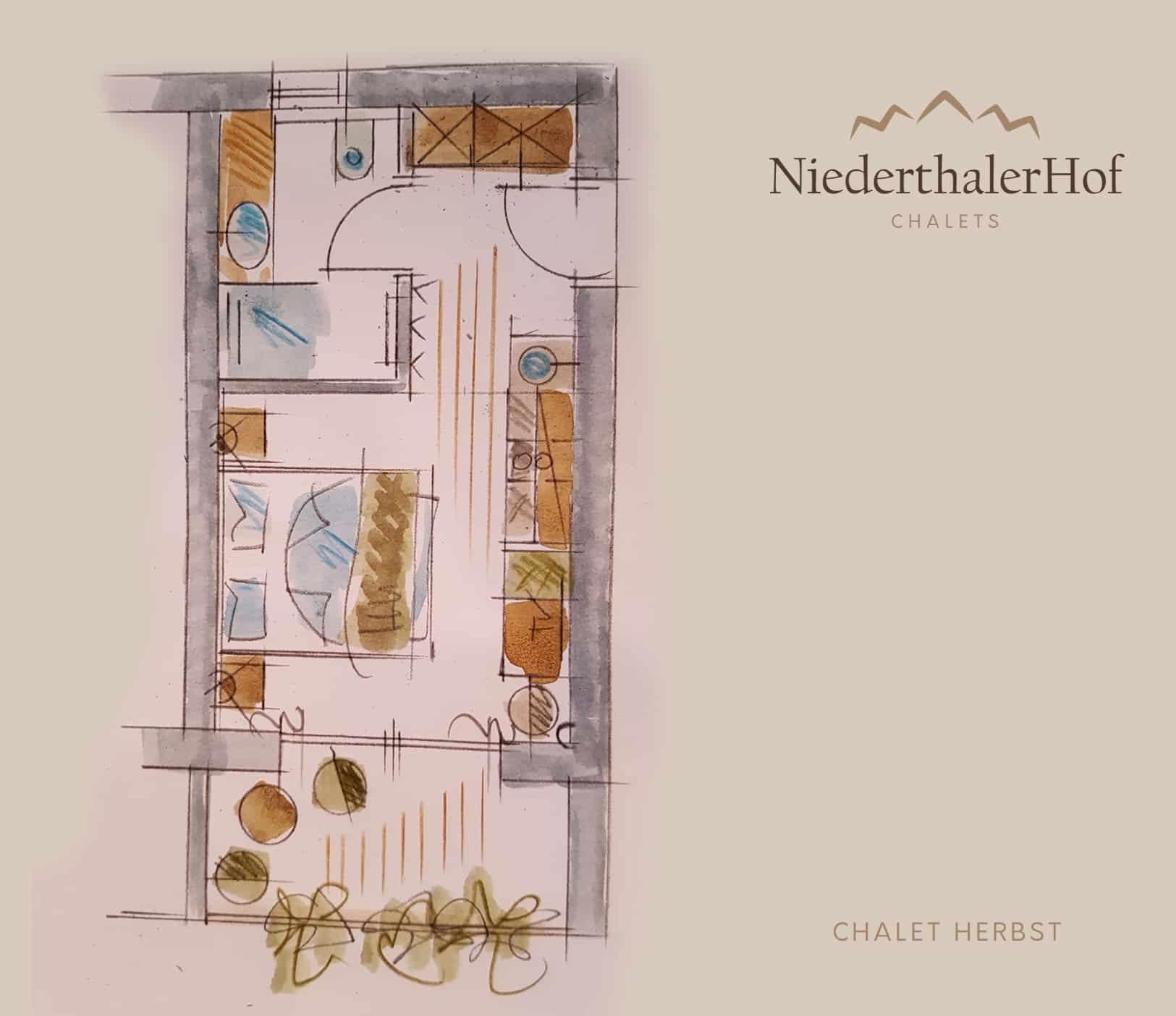 Chalet Herbst - Skizze