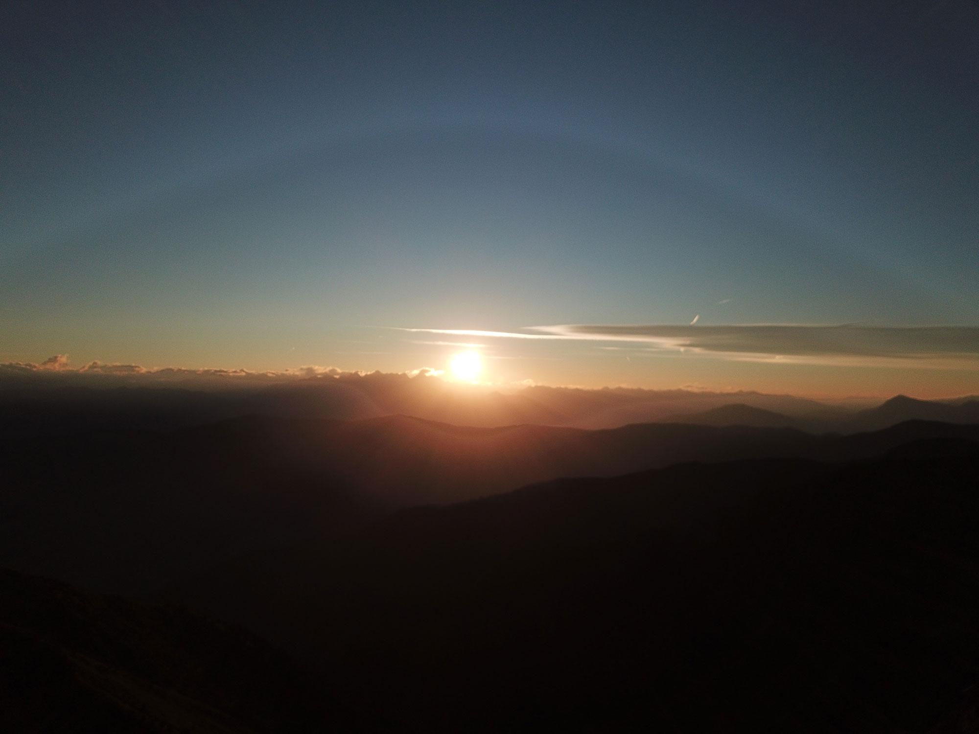 Sonnenaufgang auf der Plose