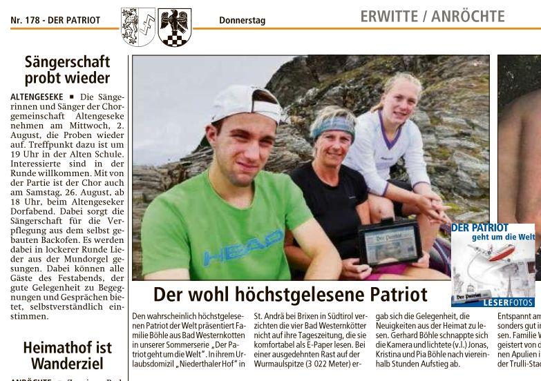 Wurmaulspitze - der patriot