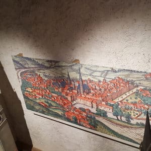 Ein altes Bild der Stadt