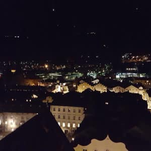 Die Stadt Brixen von oben