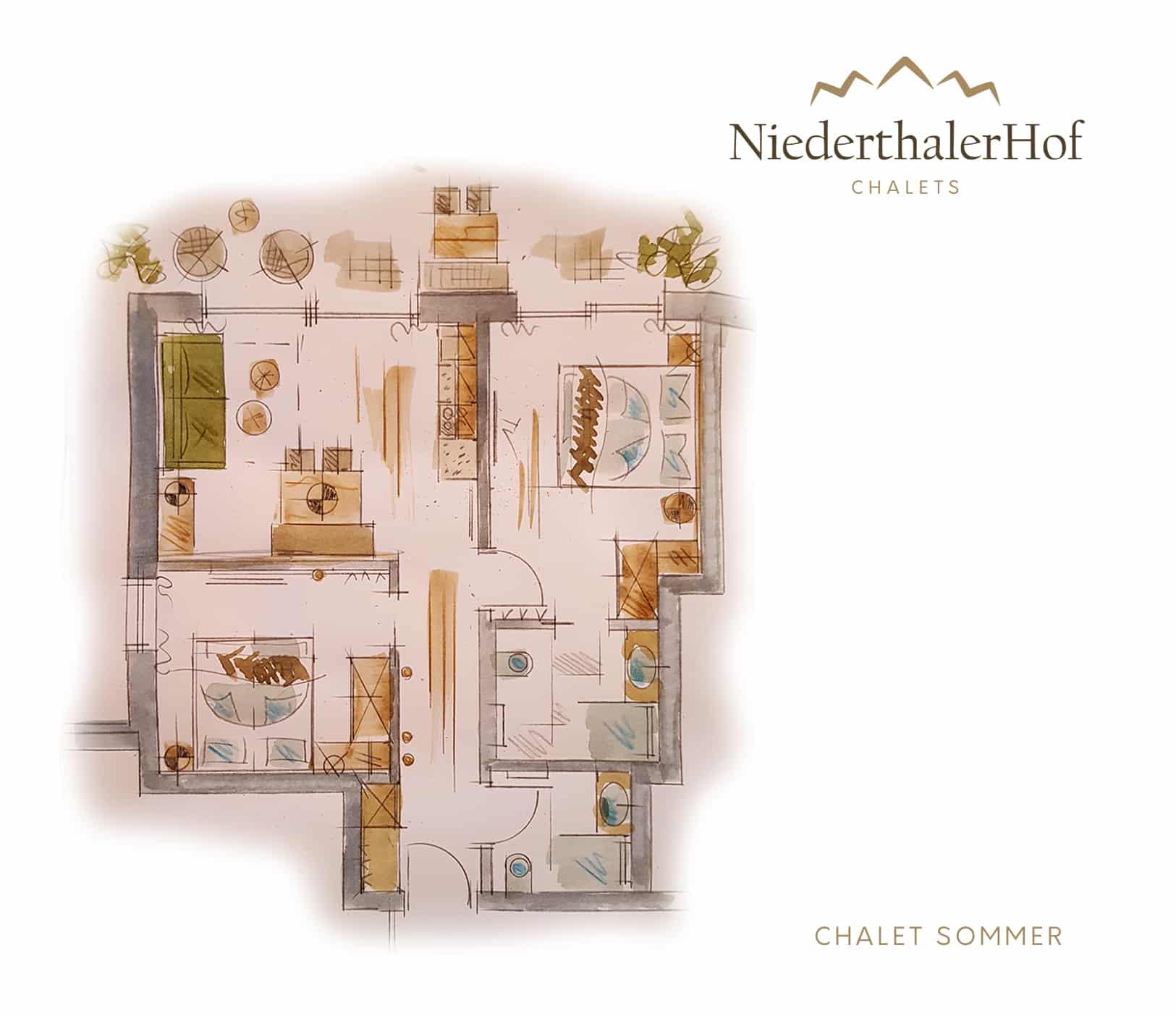 Chalet Sommer - Skizze