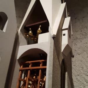 Modell vom Weißen Turm von Brixen