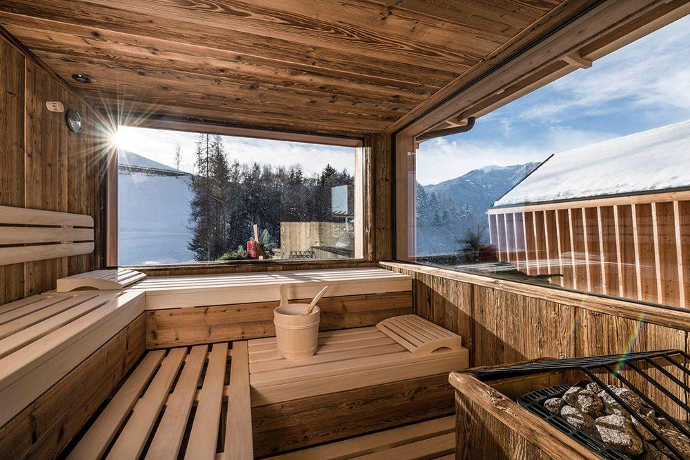 Sauna am Wellnessbauernhof