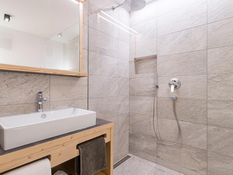 'Badezimmer im Chalet